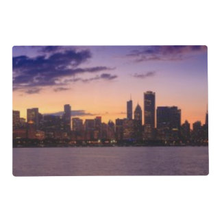 The sun sets over the Chicago skyline Placemat