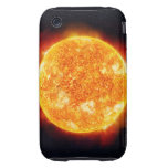 The Sun showing solar flares against a star iPhone 3 Tough Case