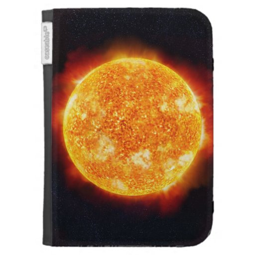 The Sun showing solar flares against a star Kindle Cover