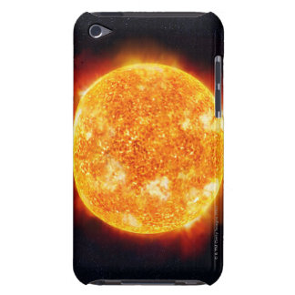 The Sun showing solar flares against a star iPod Case-Mate Case