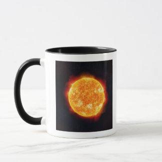The Sun showing solar flares against a star Mug