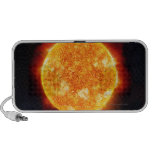 The Sun showing solar flares against a star iPod Speaker