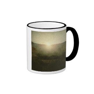 The Sun (sol naciente) 1904 (aceite en lona) Taza De Café