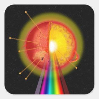The Sun Square Sticker