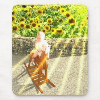 The Sun Tarot Card Art Mouse Pad