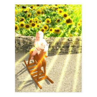 The Sun Tarot Card Art Postcard