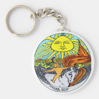 The Sun Tarot Card Keychain