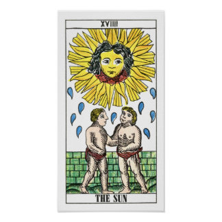 The Sun Tarot Card Poster