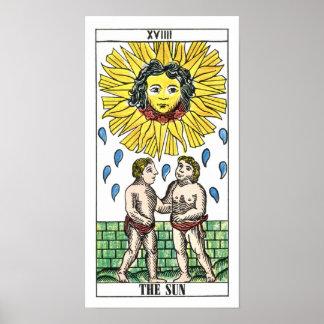 The Sun Tarot Card Poster