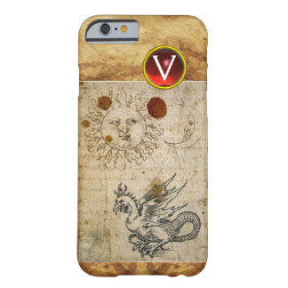 THE SUN THE MOON AND BASILISK PARCHMENT Monogram Barely There iPhone 6 Case