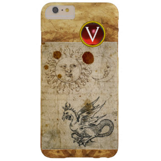 THE SUN THE MOON AND BASILISK PARCHMENT Monogram Barely There iPhone 6 Plus Case