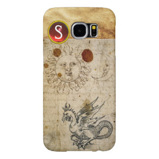 THE SUN THE MOON AND BASILISK PARCHMENT Monogram Samsung Galaxy S6 Cases