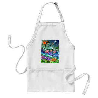 the Sun the moon and the stars 1 Adult Apron