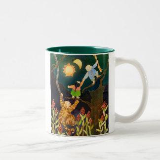The Sun & The Moon: Korean Folk Tale Two-Tone Coffee Mug