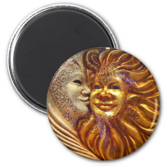 The Sun, The Moon, The Kiss 2 Inch Round Magnet
