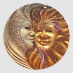 The Sun, The Moon, The Kiss Classic Round Sticker