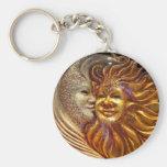The Sun, The Moon, The Kiss Keychain