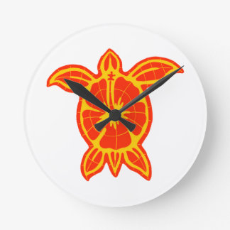 THE SUN TURTLE ROUND WALL CLOCK
