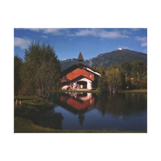 The Sun Valley Opera House in the Summer Canvas Print