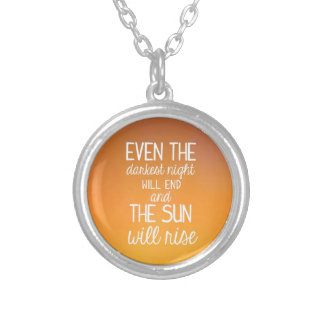 The Sun will Rise Silver Plated Necklace