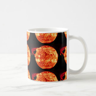 The Sun With Solar Flare Coffee Mug