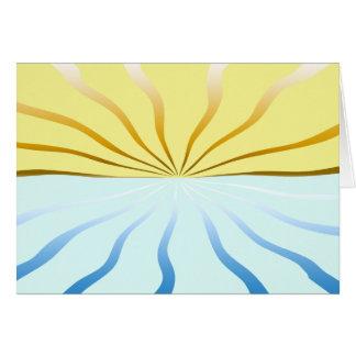 The Sun y la invitación del mar Tarjeta Pequeña