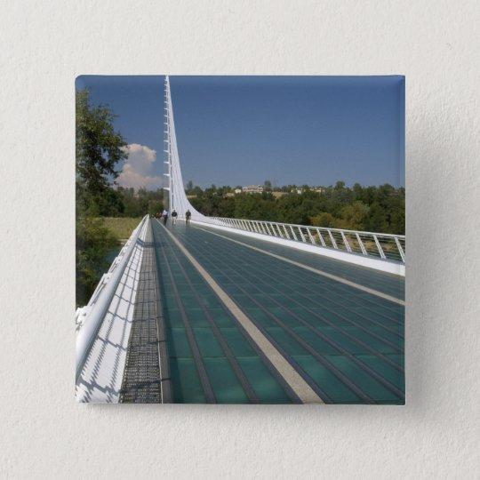 The Sundial Bridge at Turtle Bay Pinback Button