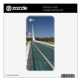 The Sundial Bridge at Turtle Bay Skins For The iPhone 4