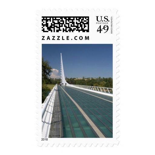 The Sundial Bridge at Turtle Bay Stamp