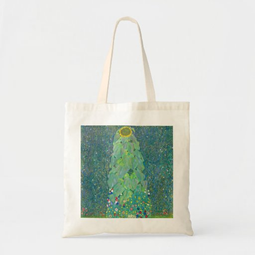 The Sunflower by Gustav Klimt Canvas Bag