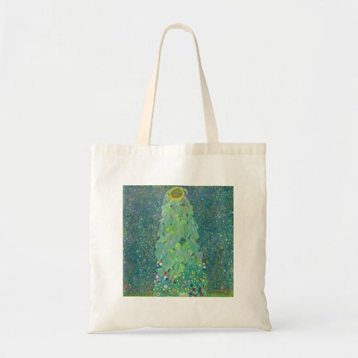 The Sunflower by Gustav Klimt Canvas Bags