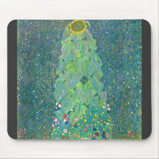 The Sunflower by Gustav Klimt Mousepads