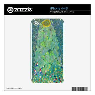 The Sunflower by Gustav Klimt Skin For iPhone 4