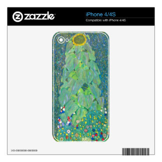 The Sunflower by Gustav Klimt Skin For iPhone 4
