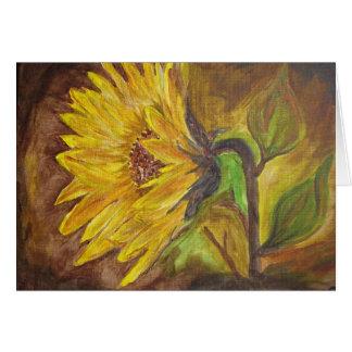 The sunflower card