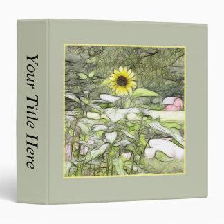The Sunflower Garden 3 Ring Binder