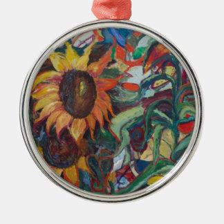 The Sunflower Garden Metal Ornament
