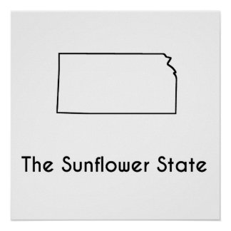 The Sunflower State Poster