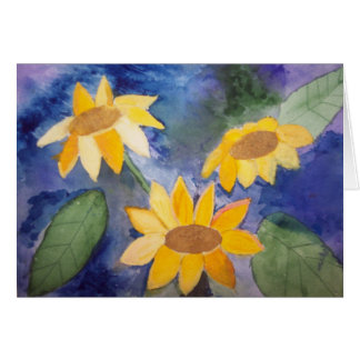 The Sunflowers Card