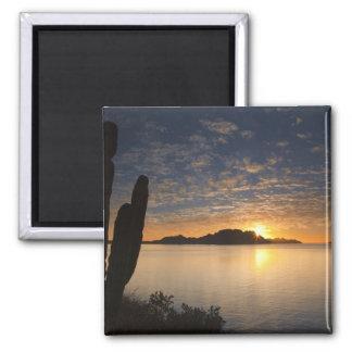 The sunrise over Isla Danzante in the Gulf of 2 Inch Square Magnet