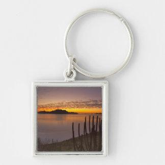 The sunrise over Isla Danzante in the Gulf of 2 Keychain