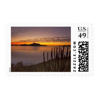 The sunrise over Isla Danzante in the Gulf of 2 Postage