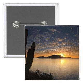 The sunrise over Isla Danzante in the Gulf of Pinback Button