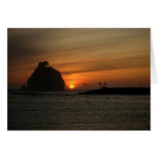 The sunset at La Push, WA Card
