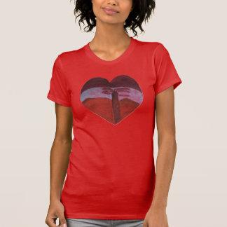 The Sunset Heart Valentine By Julia Hanna T-Shirt