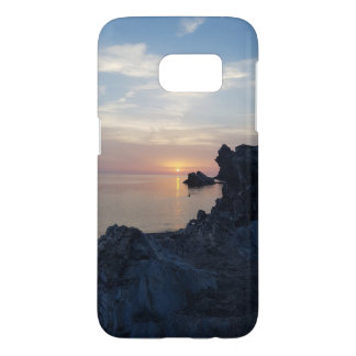 The sunset on Argentiera Beach Samsung Galaxy S7 Case