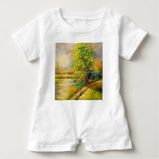 The sunset over the river baby romper
