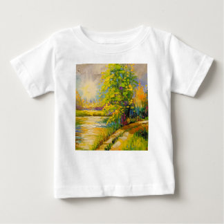 The sunset over the river baby T-Shirt