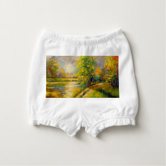 The sunset over the river diaper cover