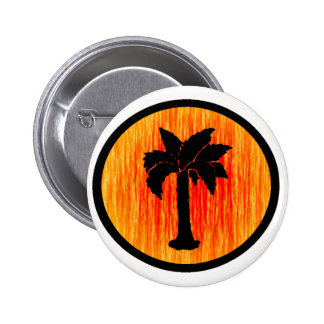 THE SUNSET PALM PINBACK BUTTON